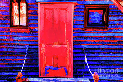 Digital Art - Blue Hut Door by Rick Bragan