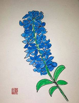 Painting - Blue Hyacinth by Margaret Welsh Willowsilk