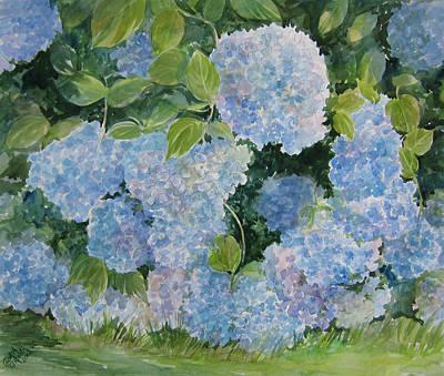 Blue Hydrangea 2 Sold Art Print