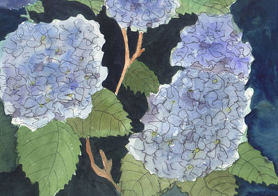 Painting - Blue Hydrangea by Jane Croteau