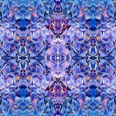 Digital Art - Blue Hydrangeas 5 by Marianne Dow