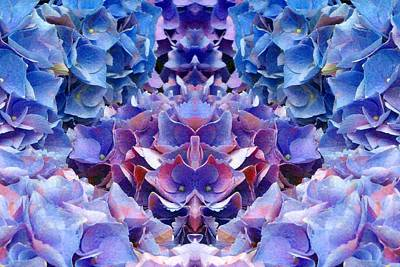 Digital Art - Blue Hydrangeas 6 by Marianne Dow
