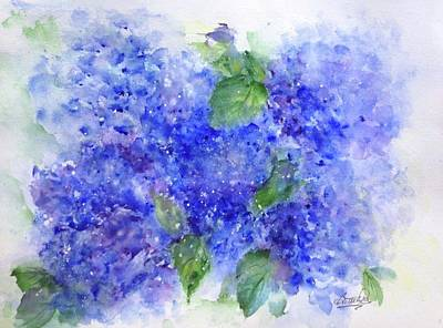 Painting - Blue Hydrangeas by Bette Orr