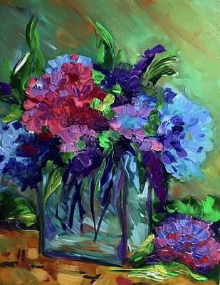 Painting - Blue Hydrangeas by FayBecca Designs