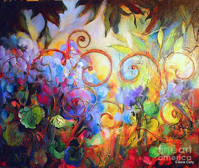 Painting - Blue Hydrangia  by Elaine Cory