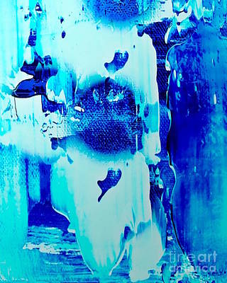 Popular Mixed Media - Blue Ice by Catalina Walker