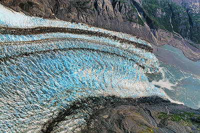 Photograph - Blue Ice Glacier Alaska by Waterdancer