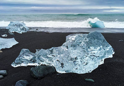 Beach Photograph - Blue Ice In Iceland Jokulsarlon by Matthias Hauser
