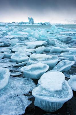 Photograph - Blue Ice In The Jokulsarlon Glacier Lagoon Iceland by Matthias Hauser