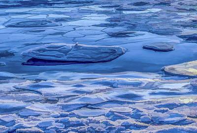 Photograph - Blue Ice by Jeffrey Friedkin