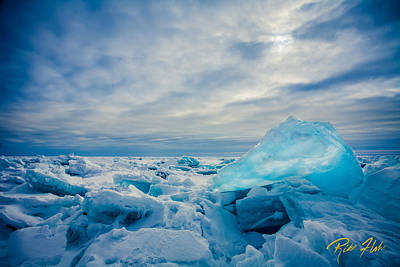 Photograph - Blue Ice On Superior by Rikk Flohr