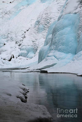 Photograph - Blue Ice Reflections by Adam Jewell