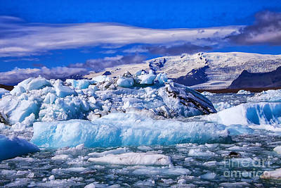 Photograph - Blue Ice by Rick Bragan
