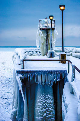 Photograph - Blue Ice by Stewart Helberg