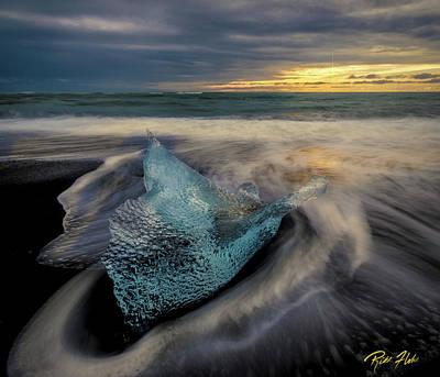 Photograph - Blue Ice Stranding by Rikk Flohr