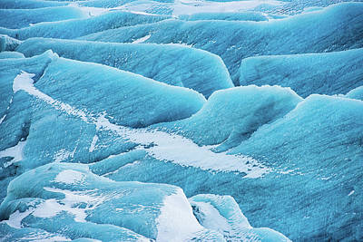 Print featuring the photograph Blue Ice Svinafellsjokull Glacier Iceland by Matthias Hauser