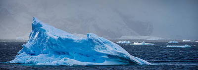 Frozen Photograph - Blue Iceberg - Antarctica Iceberg Photograph by Duane Miller