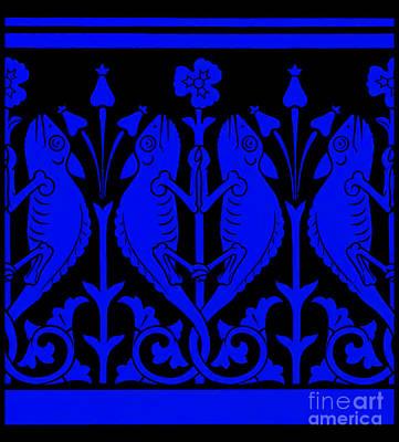 Digital Art - Blue Chameleons by Peter Gumaer Ogden
