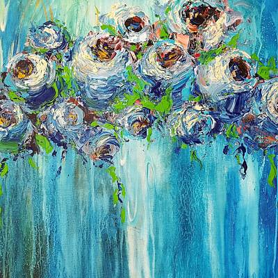 Painting - Blue Illusion by Kathy  Karas