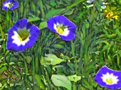 Digital Art - Blue In Sunshine by Ian  MacDonald