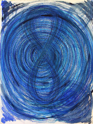 Cycles Painting - Blue Infinity by Erika Brown