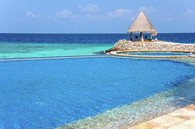 Photograph - Blue Infinity Pool. Maldives by Jenny Rainbow