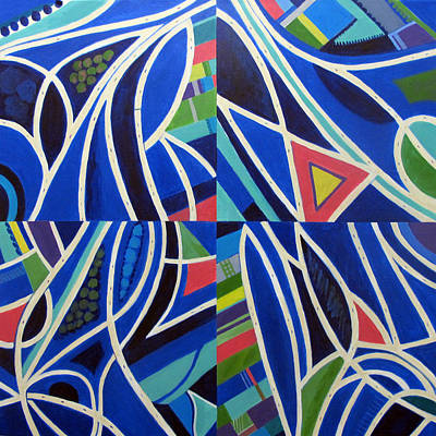 Ramp Painting - Blue Intersections by Toni Silber-Delerive