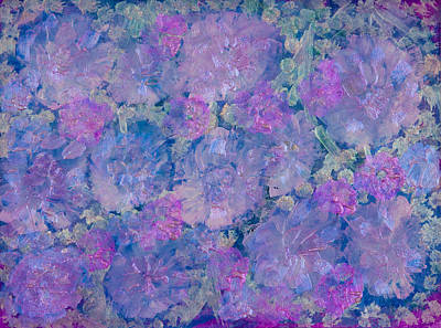 Pearlescent Mixed Media - Blue Iridescent by Don  Wright