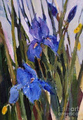 Painting - Blue Iris by Diane Ursin