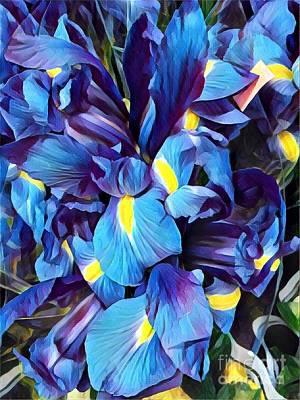 Photograph - Blue Iris Happiness by Miriam Danar