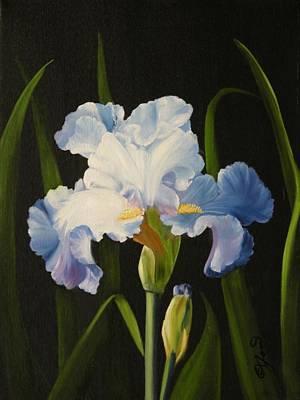 Painting - Blue Iris by Joni McPherson
