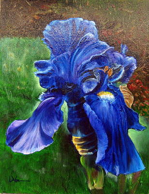 Painting - Blue Iris by LaVonne Hand