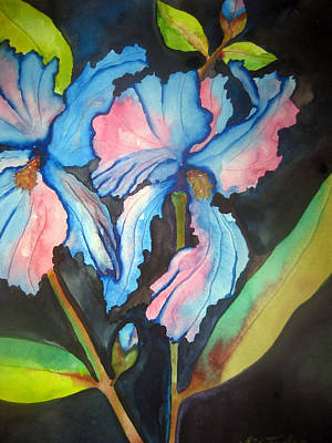 Blue Iris Art Print by Lil Taylor