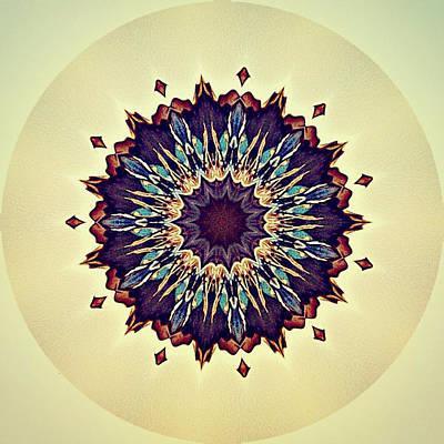 Digital Art - Blue Iris by 'REA' Gallery