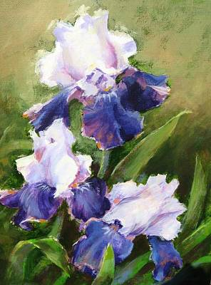 Painting - Blue Irises by Sharon Weaver