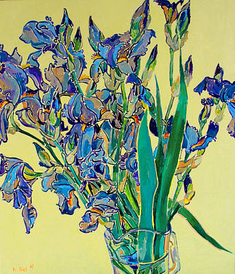 Blue Irises Art Print by Vitali Komarov