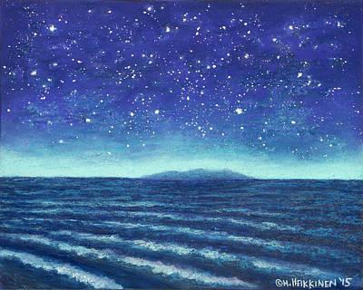 Pastel - Blue Island 01 by Michael Heikkinen