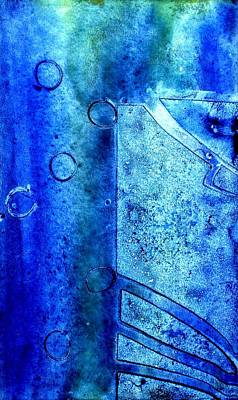 Oil Pastel Mixed Media - Blue Iv by John  Nolan