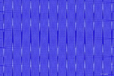 Digital Art - Blue Janca Abstract Panel #1151ew1abrb by Tom Janca