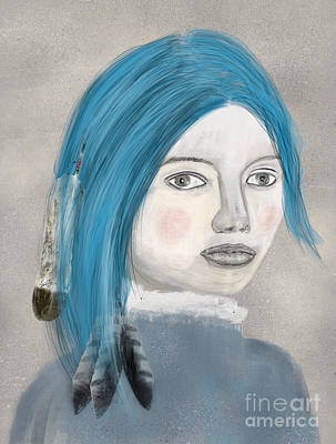 Print featuring the painting Blue Jasmine by Bri B