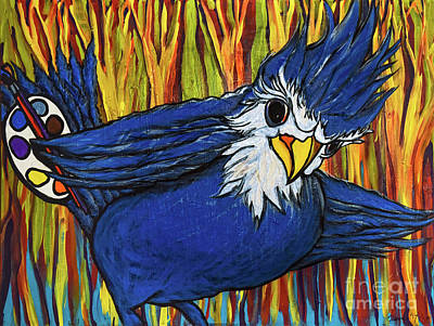 Painting - Blue Jay Artist by Rebecca Weeks Howard