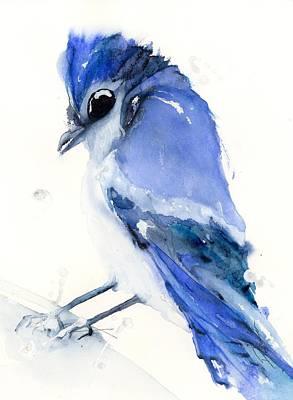 Painting - Blue Jay by Dawn Derman