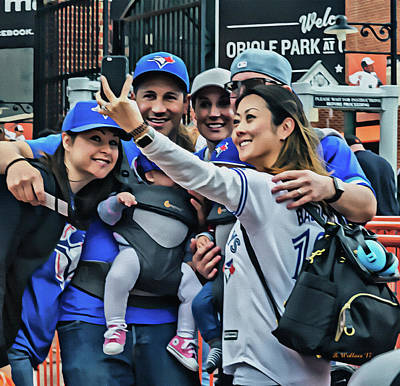 Blue Jay Fans At Camden Yards Art Print by Brian Wallace