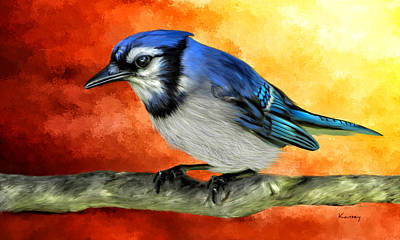 Painting - Blue Jay by Johanne Dauphinais