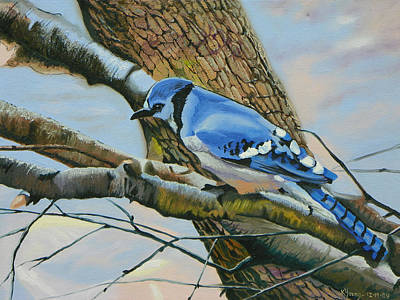 Blue Jay Art Print by Kenneth Young