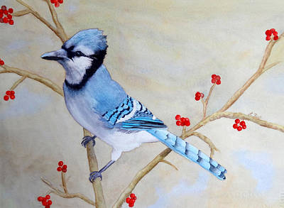 Painting - Blue Jay by Laurel Best