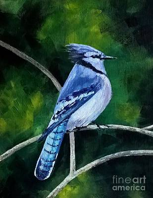 Painting - Blue Jay  by Lisa Dionne