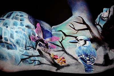 Photograph - Blue Jay Paradise by Angela Rene Roberts and Cully Firmin