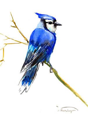 Blue Jay Digital Art - Blue Jay by Suren Nersisyan