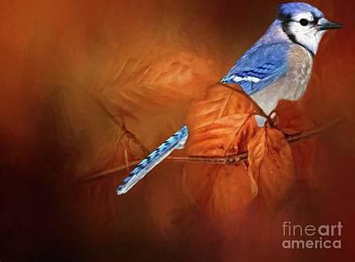 Digital Art - Blue Jay by Suzanne Handel